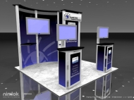 EyeMD trade show display by Structurz Exhibits and Graphics.