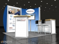 HTsystems trade show display by Structurz Exhibits and Graphics.
