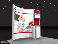 Mindstream trade show display by Structurz Exhibits and Graphics.