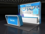 Bluecava trade show exhibit by Structurz Exhibits and Graphics.