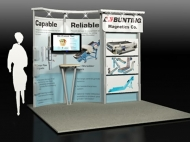 Bunting trade show exhibit by Structurz Exhibits and Graphics.