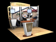 Chef's Choice trade show exhibit by Structurz Exhibits and Graphics.