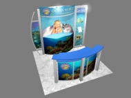 Ocean World trade show display by Structurz Exhibits and Graphics.