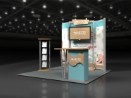 Allegis trade show display by Structurz Exhibits and Graphics.