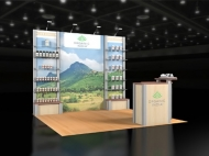 Organic India trade show exhibit by Structurz Exhibits and Graphics.