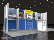 Billfish trade show display by Structurz Exhibits and Graphics.