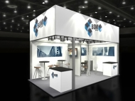BOMI trade show display by Structurz Exhibits and Graphics.