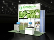 Genencor trade show display by Structurz Exhibits and Graphics.