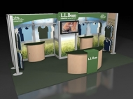 L.L. Bean trade show exhibit by Structurz Exhibits and Graphics.