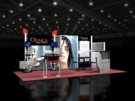Osaka trade show display by Structurz Exhibits and Graphics.