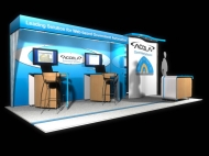 Accela trade show display by Structurz Exhibits and Graphics.