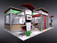Office Depot trade show display by Structurz Exhibits and Graphics.