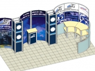 ADAS trade show exhibit by Structurz Exhibits and Graphics.