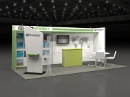 Tripadvisor trade show display by Structurz Exhibits and Graphics.