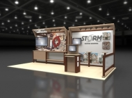 STORM trade show display by Structurz Exhibits and Graphics.