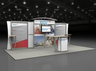 Bank of America trade show display by Structurz Exhibits and Graphics.