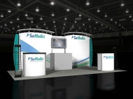 SurModics trade show display by Structurz Exhibits and Graphics.