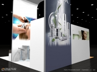 Babor trade show display by Structurz Exhibits and Graphics.