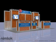 Universal trade show display by Structurz Exhibits and Graphics.