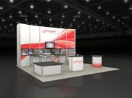 Cogent trade show display by Structurz Exhibits and Graphics.