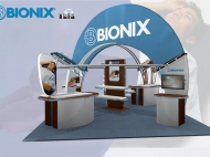 Bionix trade show exhibit by Structurz Exhibits and Graphics.