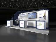 Medshape trade show display by Structurz Exhibits and Graphics.