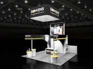 Bowens trade show display by Structurz Exhibits and Graphics.