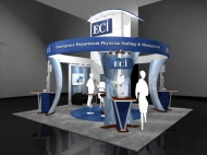 ECI trade show exhibit by Structurz Exhibits and Graphics.