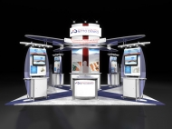 Nitto Denko trade show display by Structurz Exhibits and Graphics.