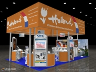 Holland trade show display by Structurz Exhibits and Graphics.