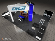GGItuning trade show display by Structurz Exhibits and Graphics.