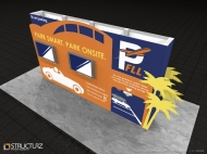 Starmark custom display by Structurz Exhibits and Graphics.