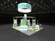 Suzlon custom display by Structurz Exhibits and Graphics.