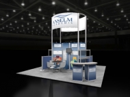 Anselm custom display by Structurz Exhibits and Graphics.