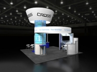 Cross custom display by Structurz Exhibits and Graphics.